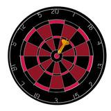 dartboard red bullseye dart poster