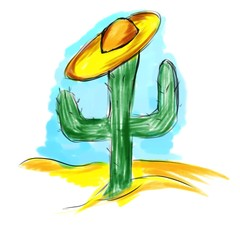 cactus in a hat