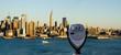 overlooking new york city