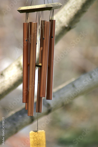 poster of copper chimes in the tree