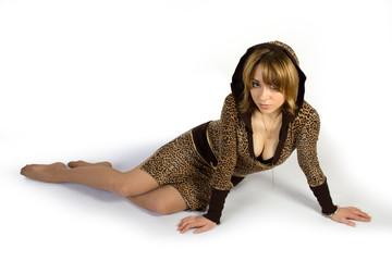 girl lay on the floor