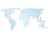 Fototapety world map 3d 2