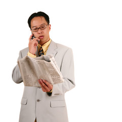stock broker on the phone