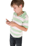 child using an mp3 music player poster
