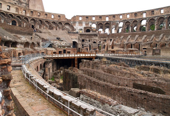 the inside view of colosseum in rome