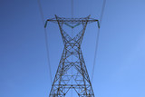 top of the big electricity pylon poster