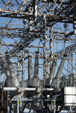 high voltage power substation poster