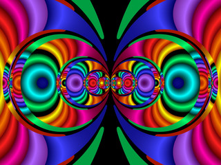 stereo colors, fractal40a