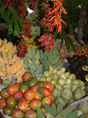 tropical fruit on market stall