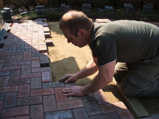 brick paver in action