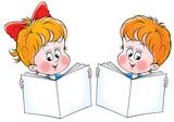 schoolboy and schoolgirl poster