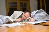 businessman felt asleep poster
