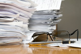 a lot of paperwork poster