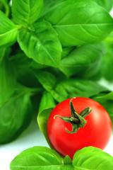 fresh basil and tomato
