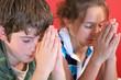 boy & girl praying together