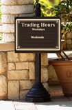 signpost #1 trading hours poster