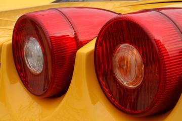 yellow car brakelight
