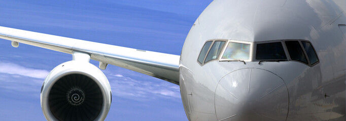 airplane close-up picture