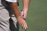 golf grip putting poster
