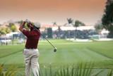 golf swing in doral, miami poster