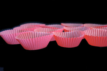pink cupcake liners