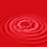 red liquid ripple poster