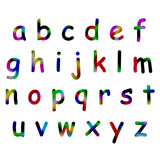 colorfull alphabet poster