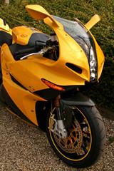 yellow superbike