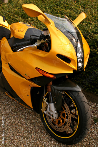 yellow superbike