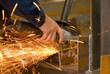 grinding on steel