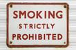 old 'smoking' sign