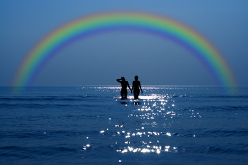 secret date under rainbow