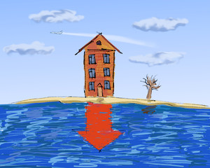 real estate, slump in prices