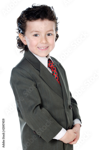 child with elegant clothes