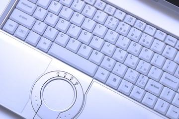 blue-toned hi-end laptop