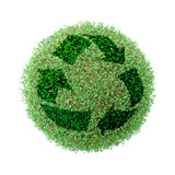 green globe recycling poster