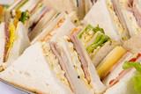 close up sandwich platter