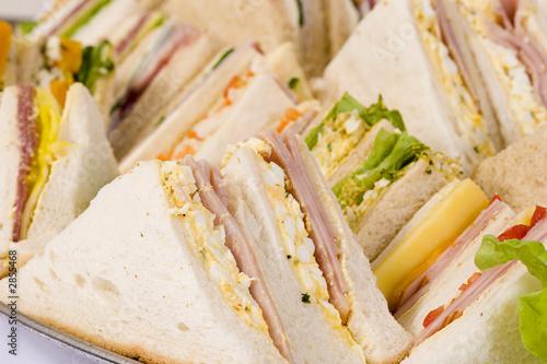 close up sandwich platter - 2855468