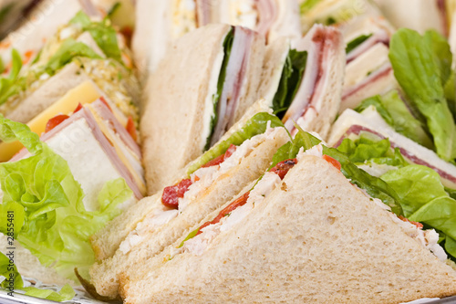 close up sandwich platter - 2855481