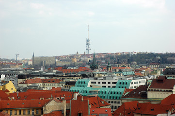 view at the zizkov tower