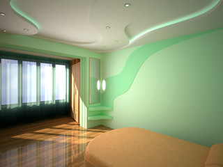 3d interior bedroom