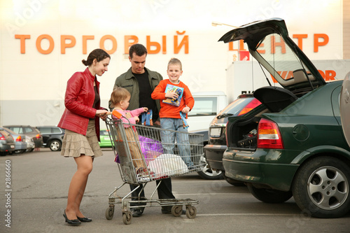 family on shop parking 2