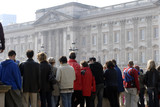 crowd in front of buckingham palace poster