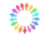 color teamwork poster