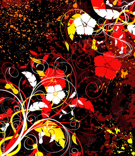 abstract floral chaos