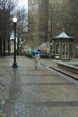 rittenhouse square and blue umbrella