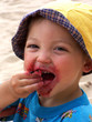 boy with berries