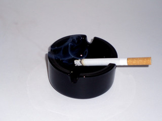 cigarette on an ashtray
