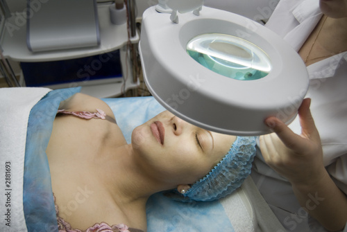 woman in a beauty salon poster