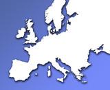 european outline map poster
